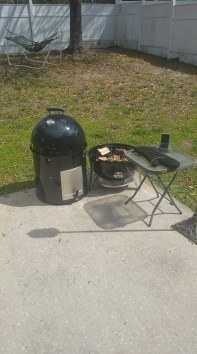 Waiting on the coals